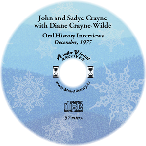 Crayne Oral History CD cover