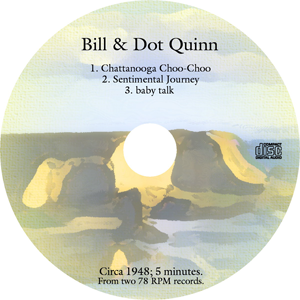 CD cover for 78 RPM record-to-CD project
